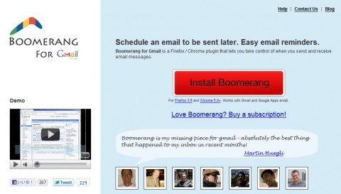 Boomerang for Gmail Scheduled sending and email reminders